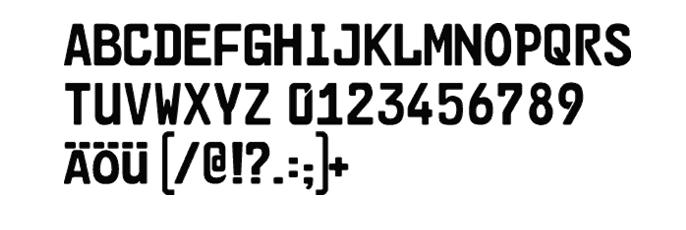 tipografia para matriculas