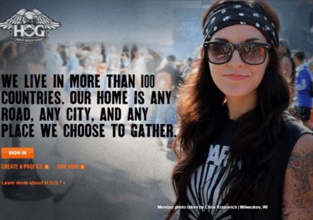 Comunidades de marca Harley Davidson