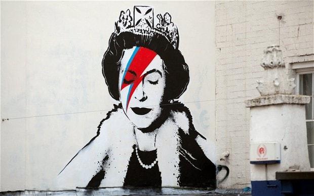 Pintada Banksy Reina
