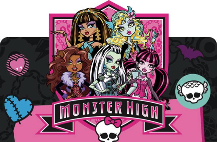 Imagen de los principales personajes de Monster High.