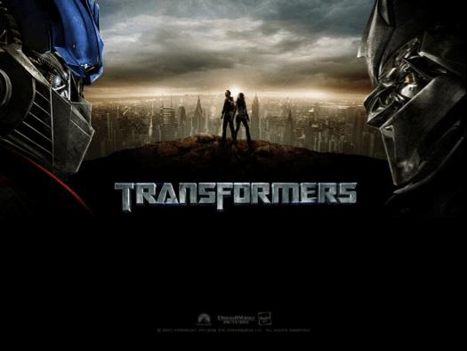 Escena de la película Transformers.