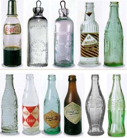 Evolución botella CocaCola