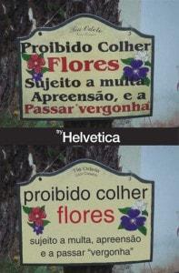 """Una iniciativa que convierte carteles callejeros en Helvetica para """"mejorarlos"""""""