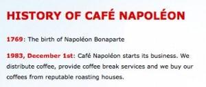 historia cafe napoleon