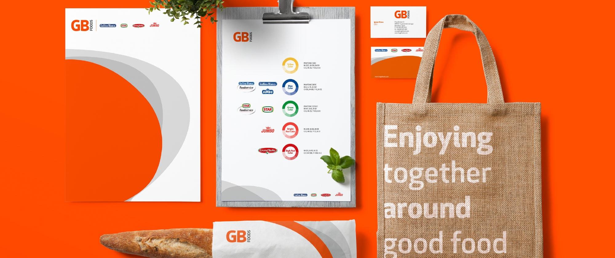 Diseño piezas GB Foods