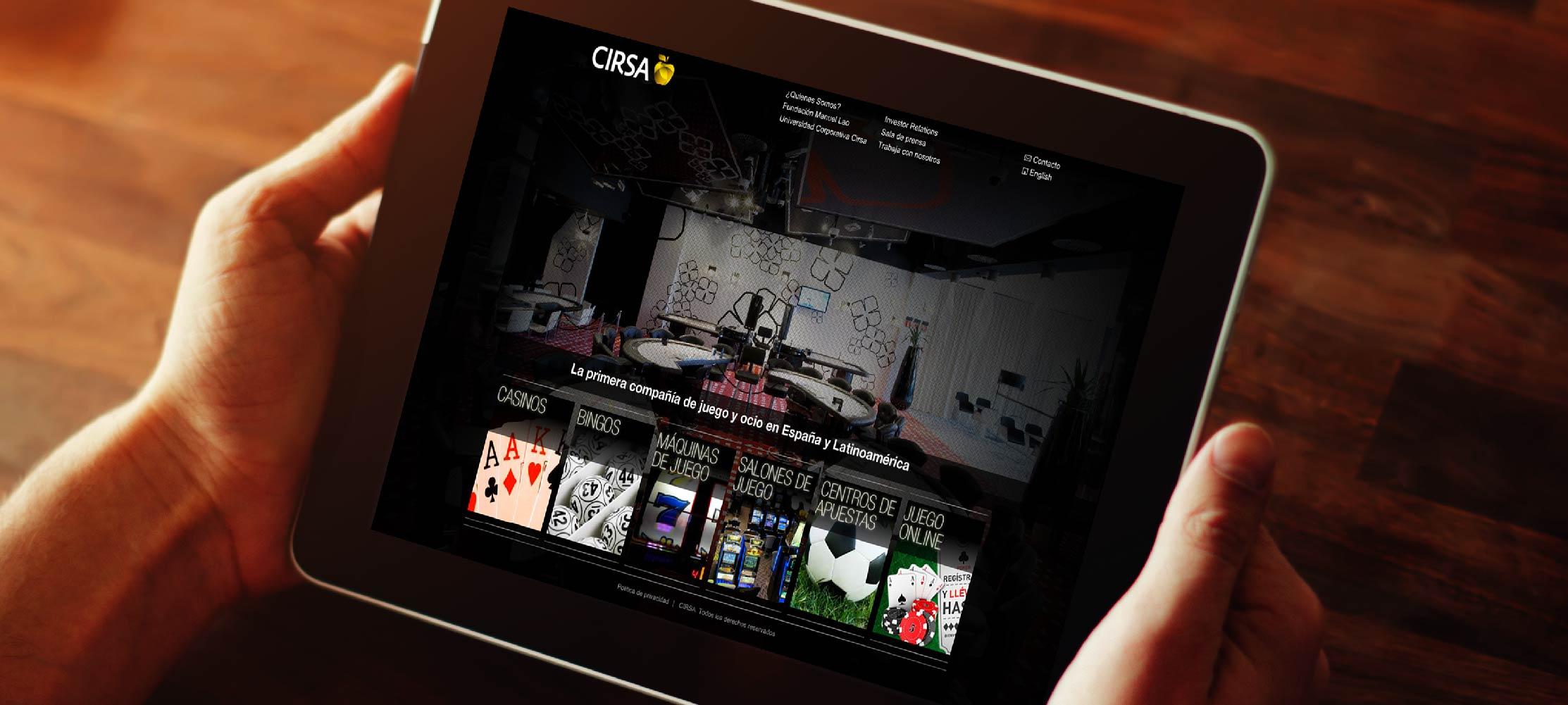 CIRSA web tablet