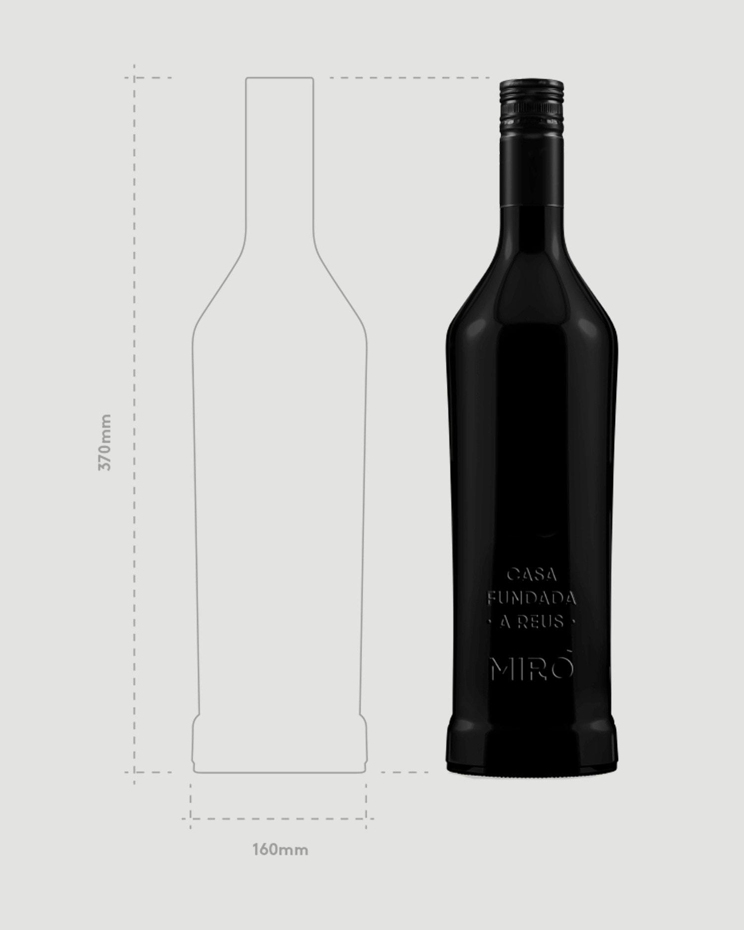 Plano botella