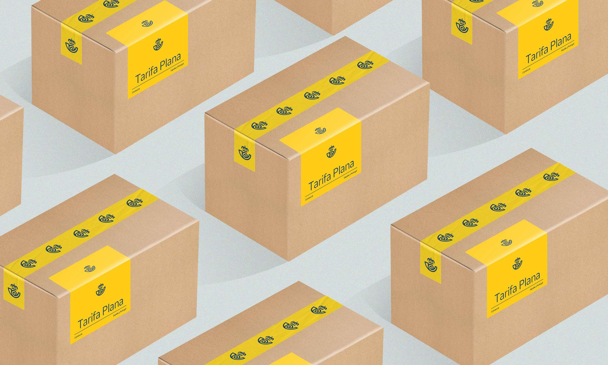 Cajas con la etiqueta de correos