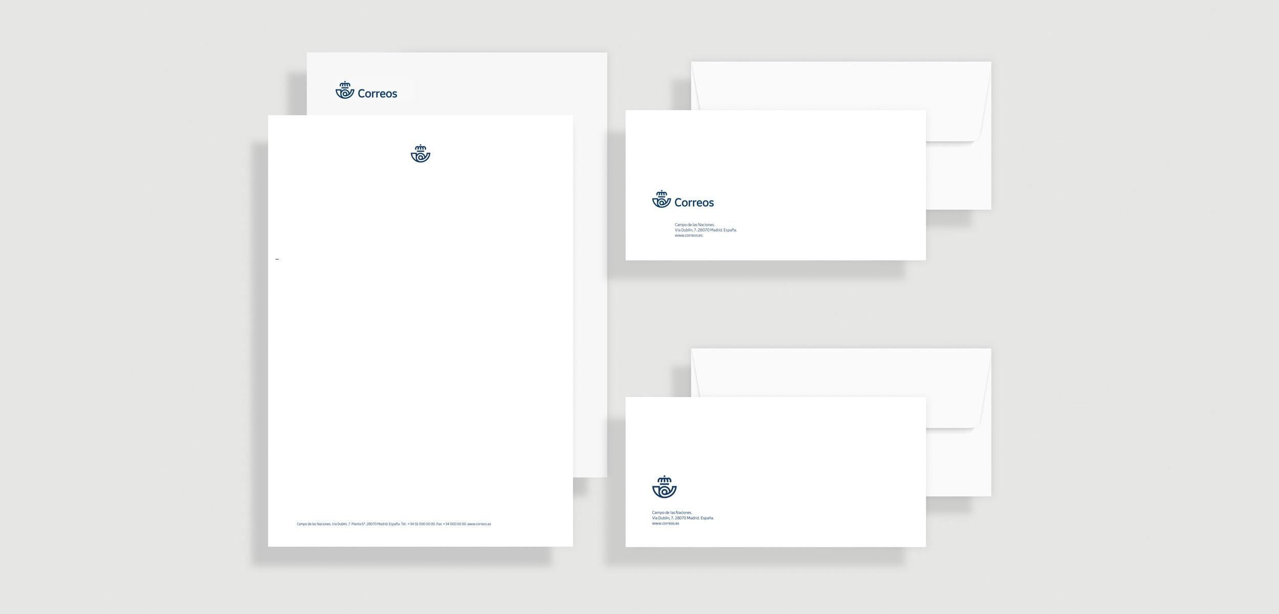 Sobres y papel de carta para correos
